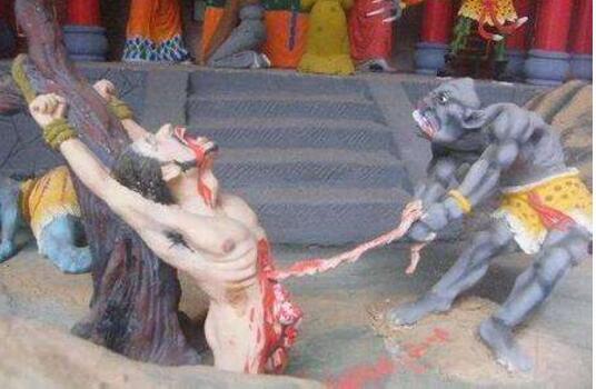古代酷刑抽肠之刑,从肛门抽出大肠(人会被扯断肠子而死)