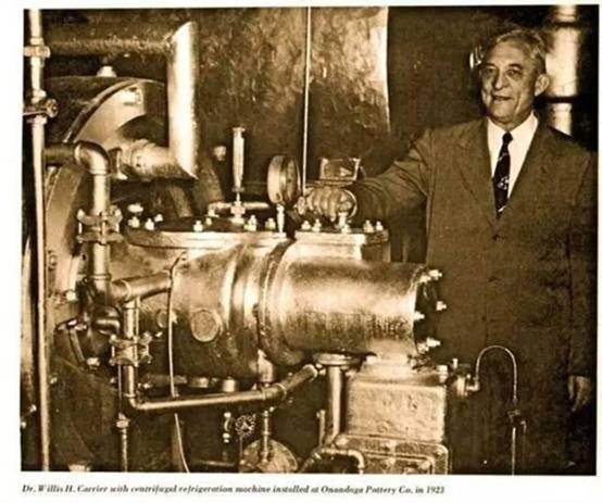 历史上第一台冷气,威利斯开利(空调之父)