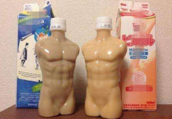 日本无节操饮料奇葩外观,冰镇后会流汗的猛男肌肉