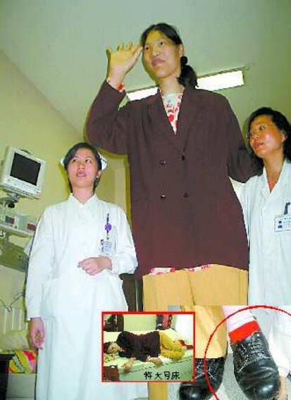 世界上最高的女人,中国姚德芬2.36米(第一女巨人)