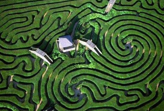 世界十大迷宮圖,最復雜的迷宮曾讓拿破侖迷路