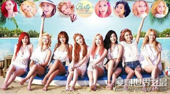 少女时代成员人气排名,九人女团如今只剩下五人