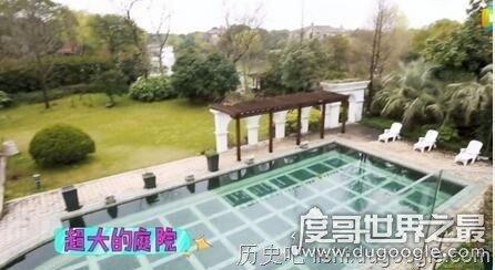 沈梦辰上海豪宅疑曝光 有超大庭院还有游泳池
