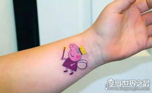 小猪佩奇身上纹掌声送给社会人,来看看你够不够社会