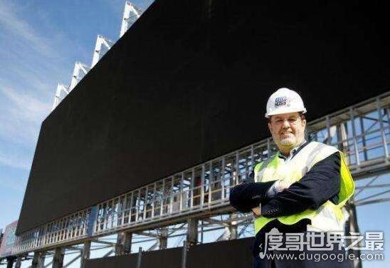 世界上最大的电视机,长度超过波音767飞机(66米)