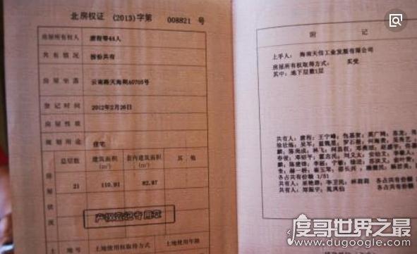 """广西北海惊现""""最牛房产证"""",44人共享一套房(两万赚35万)"""