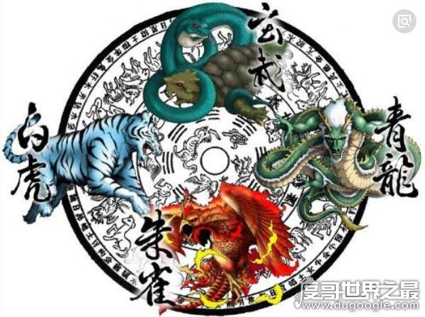 上古四大神兽,左青龙右白虎(天文学与神话结合的产物)