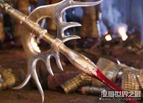重兵器凤翅镏金镋,是隋朝大将宇文成都的兵器(重达400斤)
