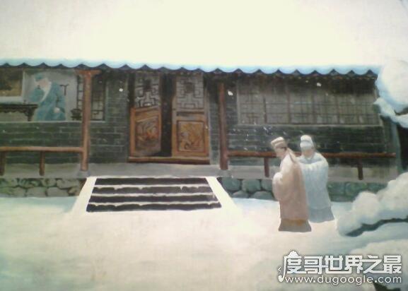 程门立雪的主人公是谁,游酢杨时为不打扰老师在雪中等待