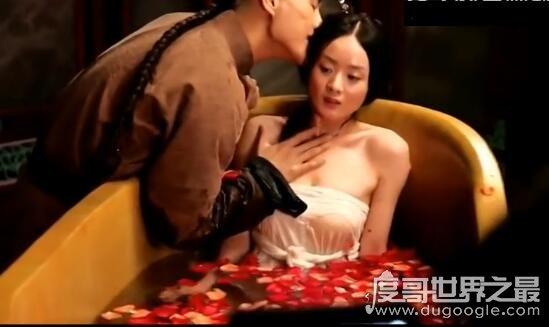 赵丽颖床戏大盘点,被男演员摸腿亲脖子(非常的性感香艳)