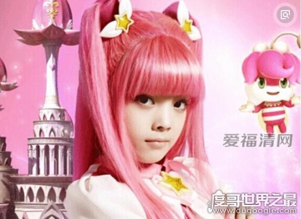 中英混血美少女刘黛希,饰演《巴啦啦小魔仙》凌美雪一角出名