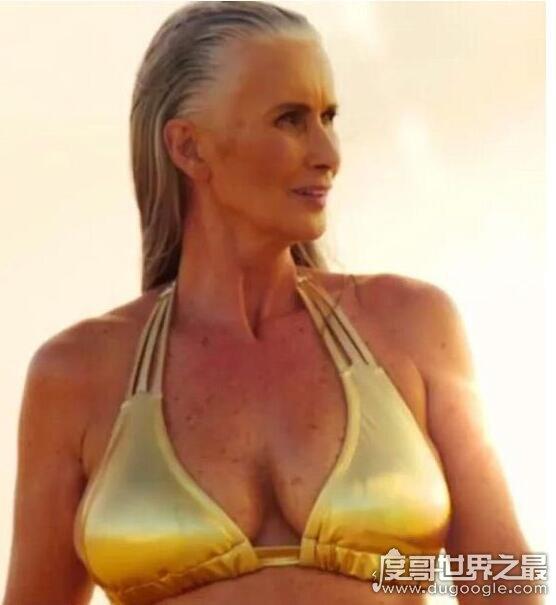 史上最老泳装模特,尼古拉格里芬(56岁拍性感泳装写真)