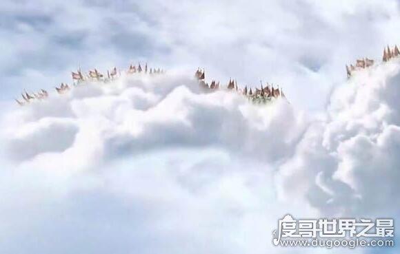 天空上出现6个天兵天将,奇异天下组成神秘天兵天将图