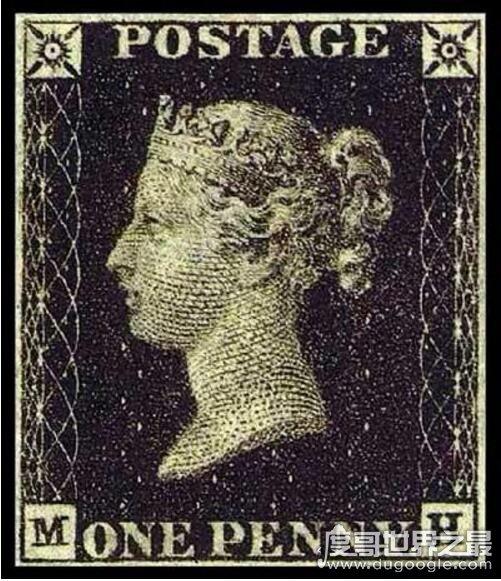 世界第一枚邮票出现在英国,黑便士(诞生于1840年)
