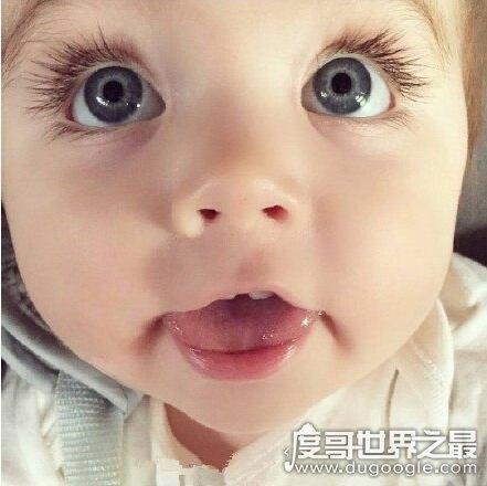 世界上睫毛最长的宝宝,漂亮的大眼睛实在是太让人羡慕了