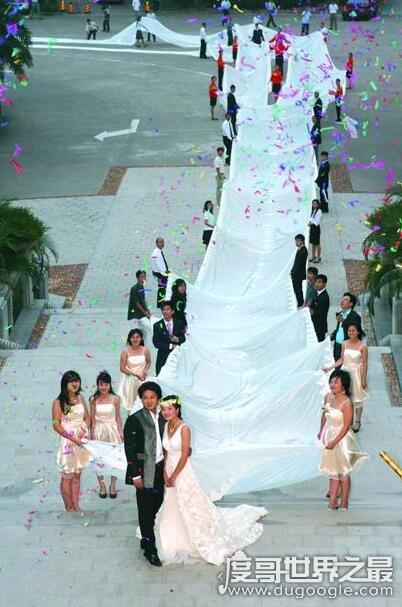 世界上最长的婚纱,最长的8095米(中国4100米婚纱排第二)