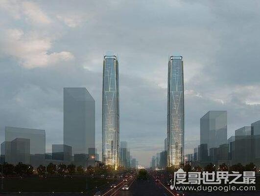 海南第一高楼,高达428米的海南海口塔正在火热建造中