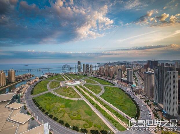 世界上最大的广场,大连星海广场(比天安门广场大4个)