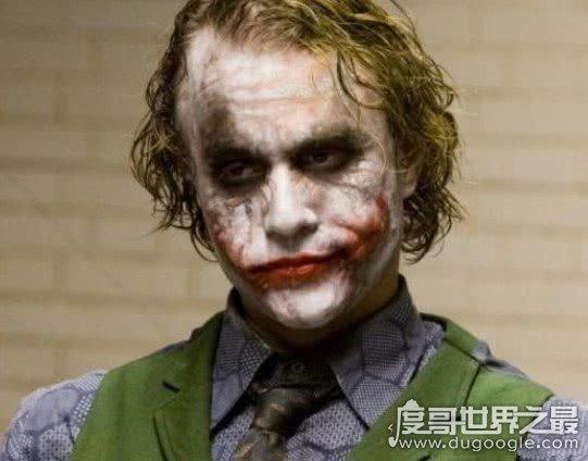 有史以来最经典的小丑形象,希斯莱杰小丑癫狂到否定世界