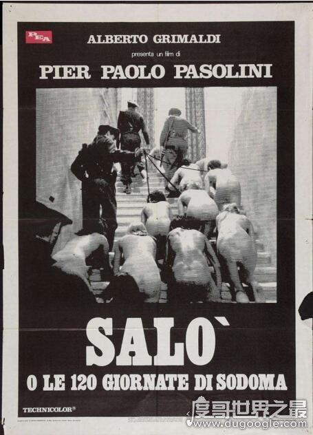 世界十大禁播電影名單,索多瑪120天堪稱史上最經典之作