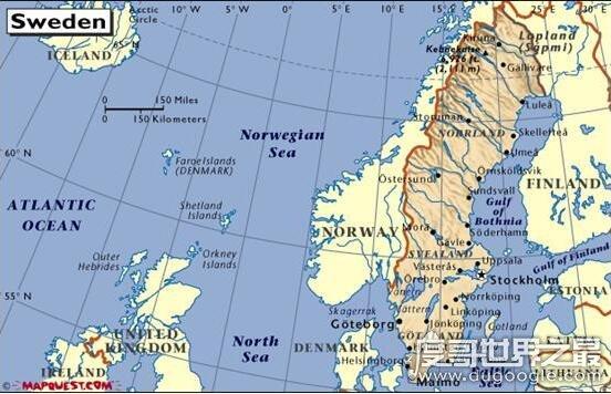 欧洲最大的半岛,斯堪的纳维亚半岛面积大概有75万平方千米