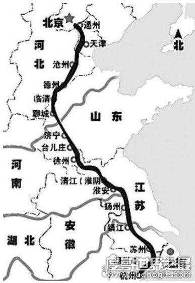 世界三大运河,中国京杭大运河最长最古老(全长1797公里)