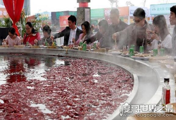 天下第一大火锅,10米直径可供56人同时食用