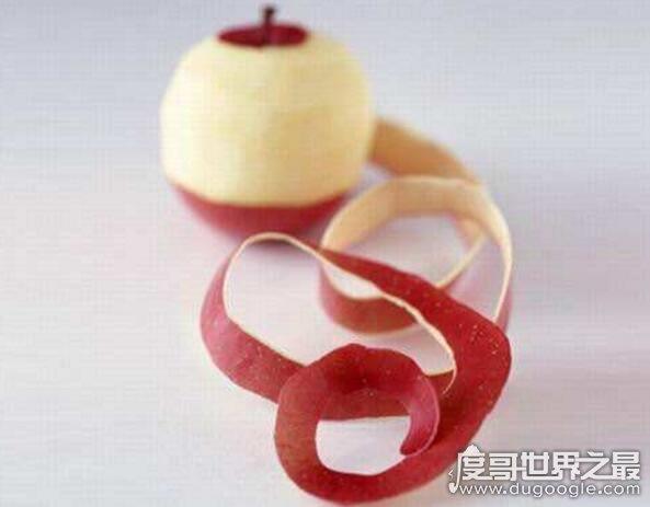 世界上削苹果皮最长纪录,52.5米(相当于15层楼的高度)