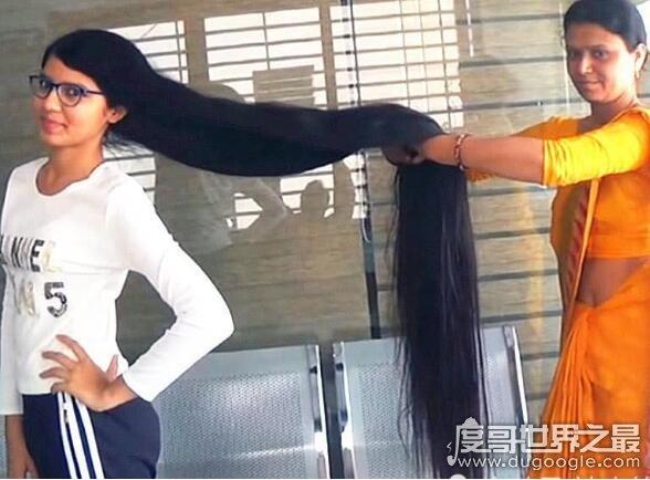 世界上头发最长的青少年,尼兰世·帕特尔头发长170.5厘米