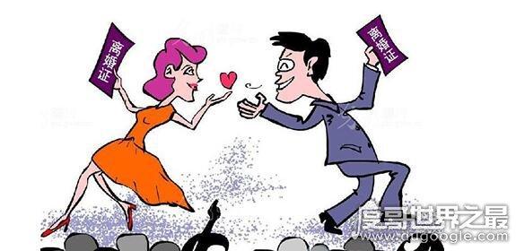 离婚率最高的国家十个国家,第一名每年有近32000人承诺离婚