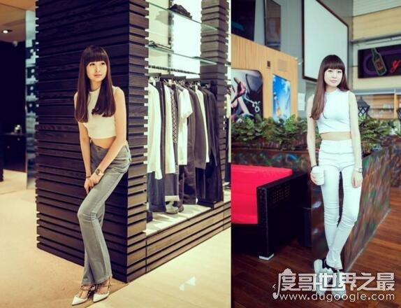 中国最长腿小姐,石淑仪(13岁时腿长1.15米/现在最少1.2米)