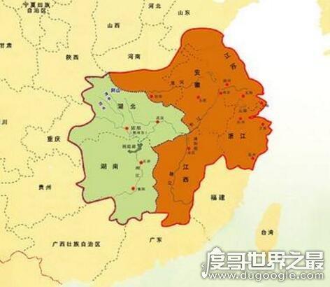 楚国是现在的哪里?整个长江中下游流域(面积150万公里)
