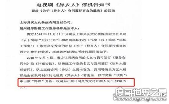 楊爍索要天價片酬,限薪令后拒絕降低片酬導致劇組停機
