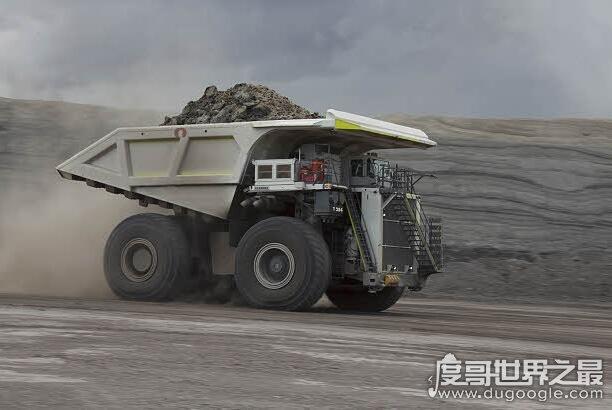 世界上最大的汽车,利勃海尔t282b(全长16米/最大重量592吨)