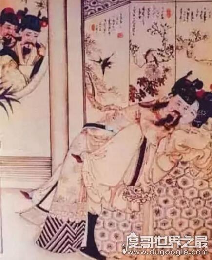 宋朝春画熙陵幸小周后图欣赏,元朝画家为抹黑宋朝皇室所作