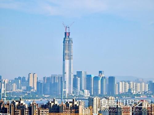 华中第一高楼,武汉绿地中心设计高度达636米(主楼有111层)
