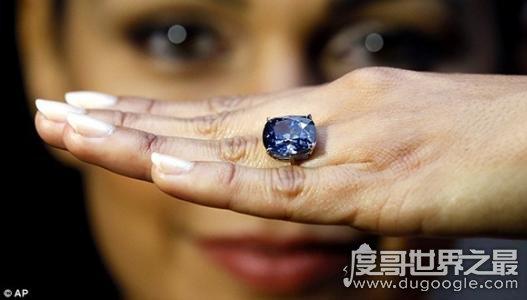 世界最大蓝钻,奥本海默之蓝重达14.62克拉(价值3.35亿人民币)
