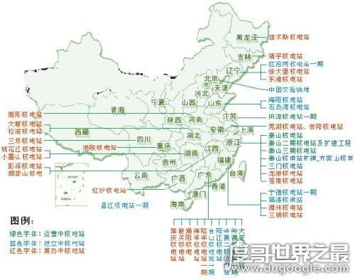 中国有多少核电站,截止目前共有22座(其中已经建成11座)