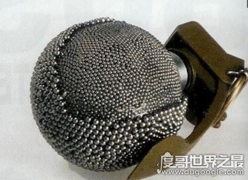 世界上威力最大的手雷,珍珠手雷内部上万个颗钢珠