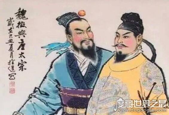 以铜为镜可以正衣冠的典故,乃唐太宗对魏征的最高评价