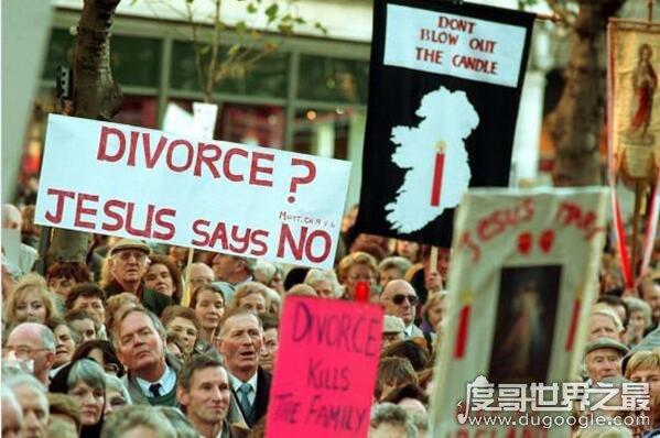 世界上最難離婚的國家,愛爾蘭(必須分居四年才能申請離婚)