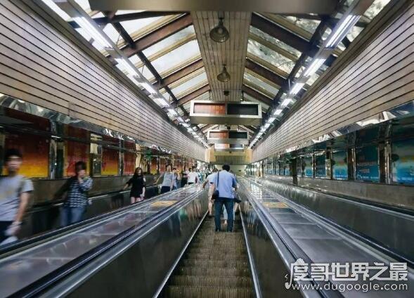 亚洲第一长扶梯,朝鲜平壤地铁荣光站长达150米(乃中国建造)