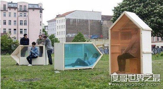 世界上最小的房子,面积仅为1平方米(功能齐全/价格便宜)