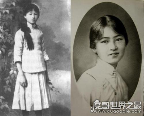 民国四大美女之一的陆小曼照片,被誉为校园皇后(与徐志摩二婚)