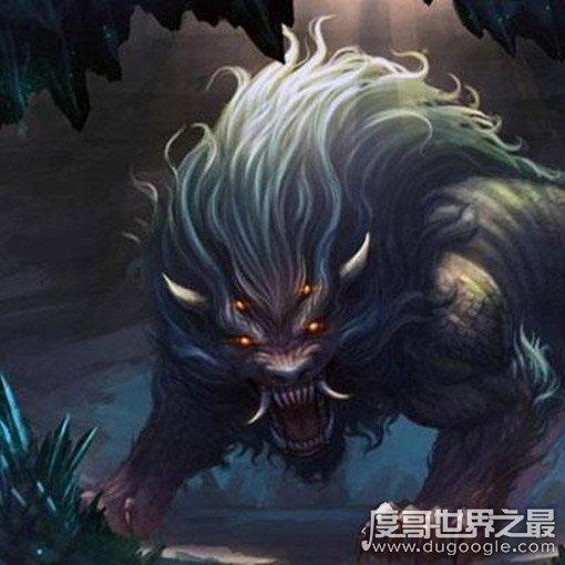 外形像老虎,长有一双翅膀,披有刺猬的毛皮,喜欢吃人,是一头凶恶的异兽