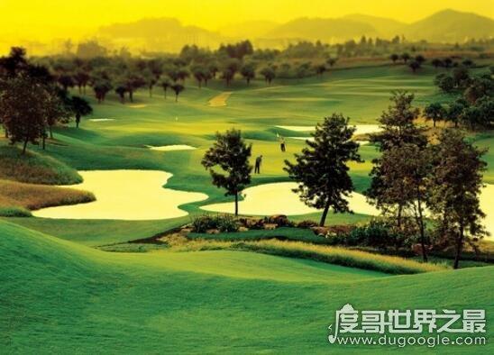 世界上最大的高尔夫球场,中国观澜湖高尔夫球场(占地30万平方尺)