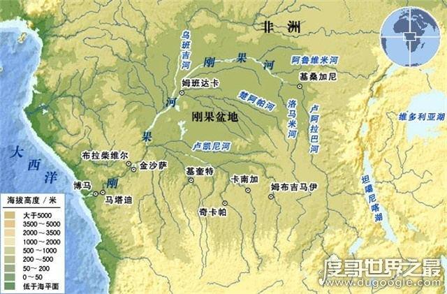 世界上面积最大的盆地,非洲刚果盆地(面积约等于中国的1/3)