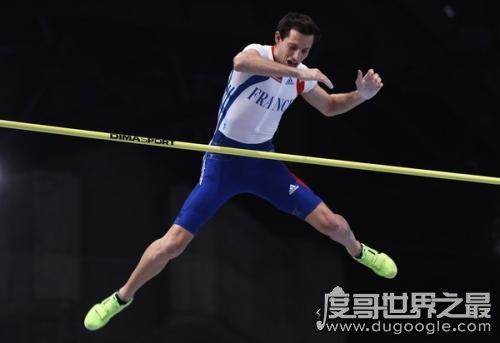 男子撑杆跳世界纪录,李纳德·拉维莱涅6.16米(女子记录5.05米)