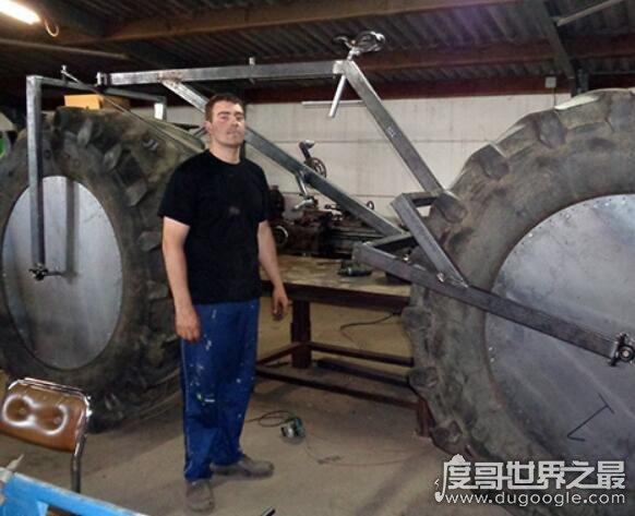 世界上最重的自行车,小伙子创造出重达1720斤的自行车