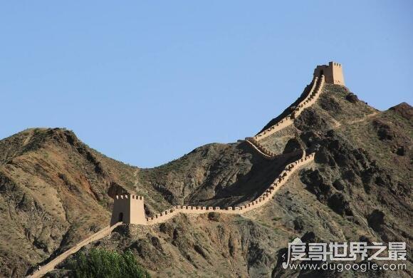 世界上最大的城墙,明长城(光是人工墙就长达6259.6公里)
